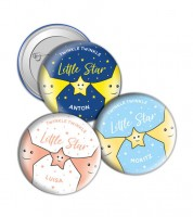 "Dein Button ""Little Star"" - Wunschtext"