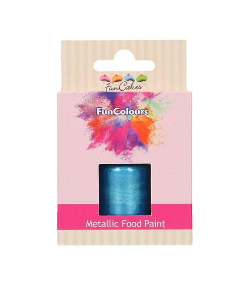 FunCakes Lebensmittelfarbe - metallic königsblau - 30 ml