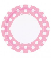 "Pappteller ""Big Dots"" - Lovely Pink - 8 Stück"
