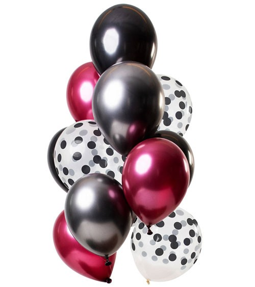 """Luftballon-Set """"Dark Richness"""" - 12-teilig"""