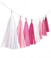 "DIY Tasselgirlande ""Farbmix Pink"" - 3 m"