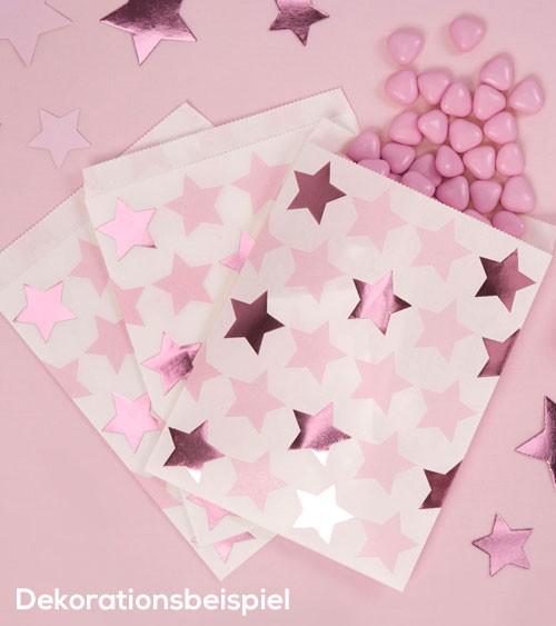 """Süßigkeiten-Tüten """"Little Star Pink"""" - 25 Stück"""