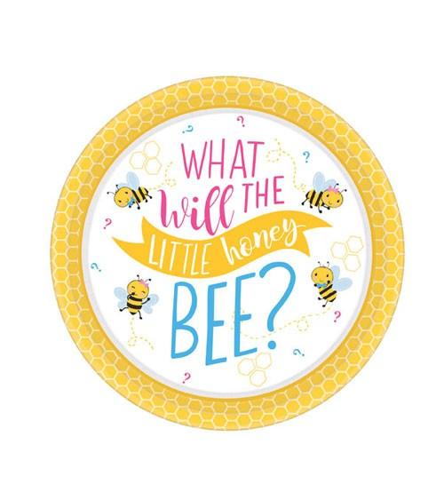 """Kleine Pappteller """"What will it Bee?"""" - 8 Stück"""