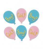 "Zuckerdekor ""Girl? Boy?"" - 6-teilig"