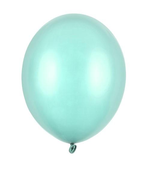 Metallic-Luftballons - mintgrün - 50 Stück