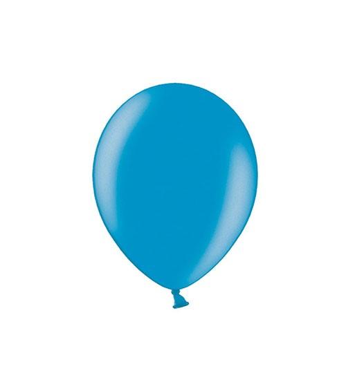Mini-Luftballons - metallic cornflower blue - 12 cm - 100 Stück