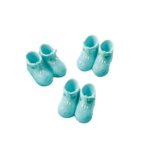 Babyschühchen mit Klebepunkt - 2,5 cm - hellblau - 3 Paar