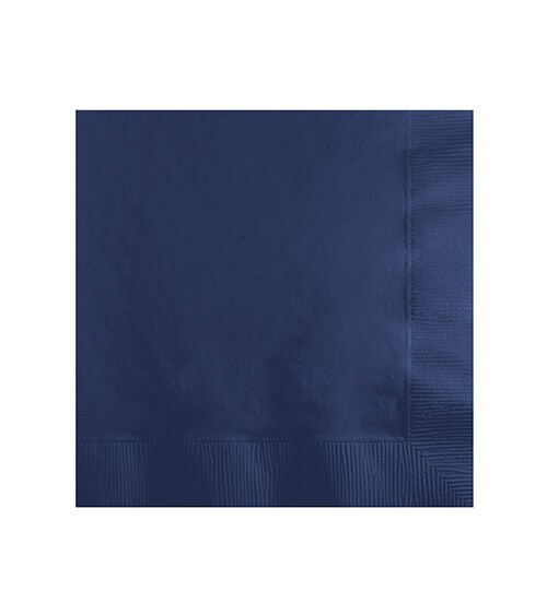 Cocktail-Servietten - navy blue - 50 Stück