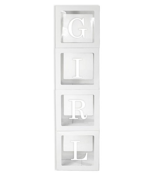 """XXL-Deko-Würfel mit Sticker """"Girl"""""""
