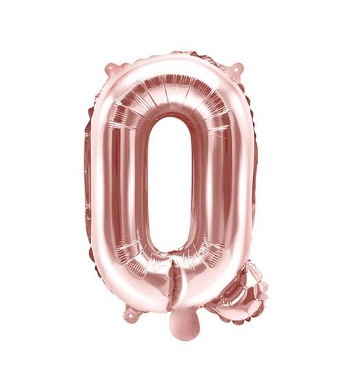 "Folienballon Buchstabe ""Q"" - rosegold - 35 cm"